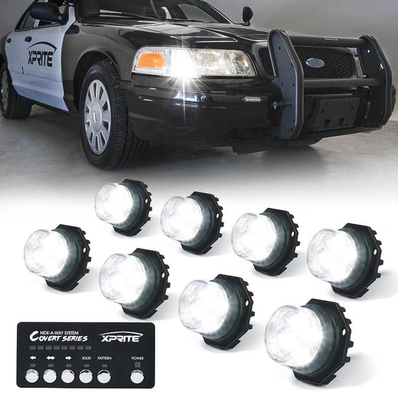Xprite Covert 8 Series Hide-A-Way LED Strobe Lights