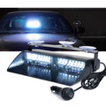 Xprite Undercover Series LED Strobe Lights For Dash / Windshield With Suction Cups