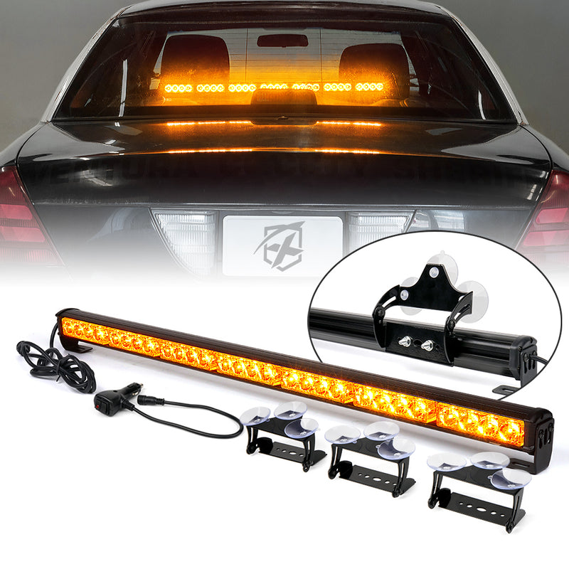 "Xprite 31.5"" G2 LED Traffic Advisor Strobe Lightbar with Suction Cup Brackets"