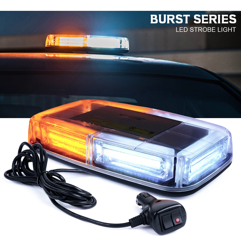 Xprite Burst Series COB LED 30W Rooftop Strobe Light with Magnetic Base