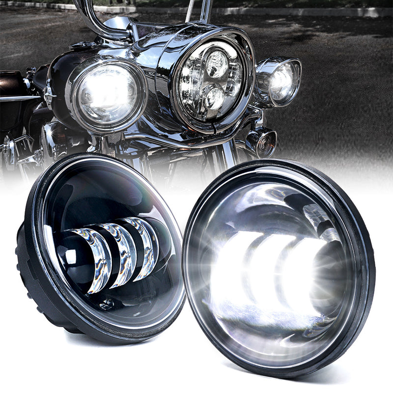 "Xprite 4.5"" 60W CREE LED Passing Spot Light for Harley Davidson Motorcycles"