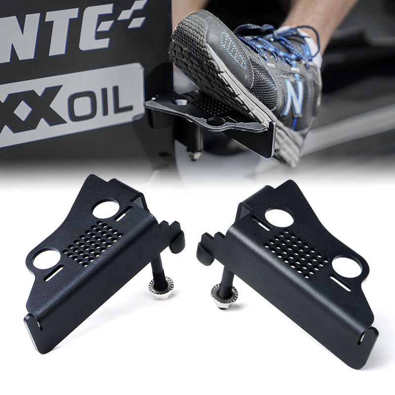 Xprite Front Foot Pegs with Jeep Grille for 2007-2018 Jeep Wrangler JK