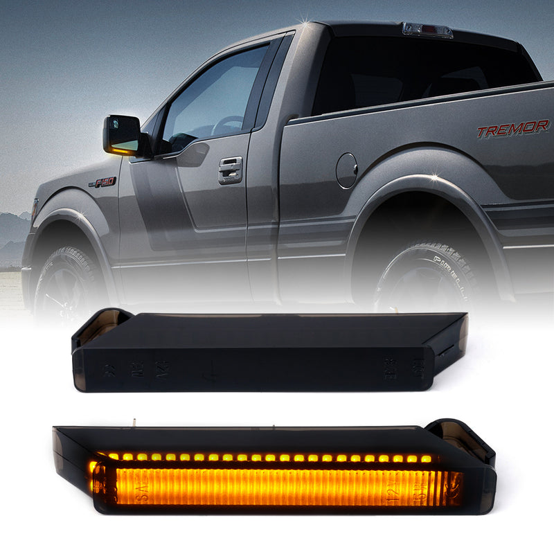Xprite Sequential LED Side Mirror Turn Signal Lights for 2004-2014 Ford F-150 Raptor