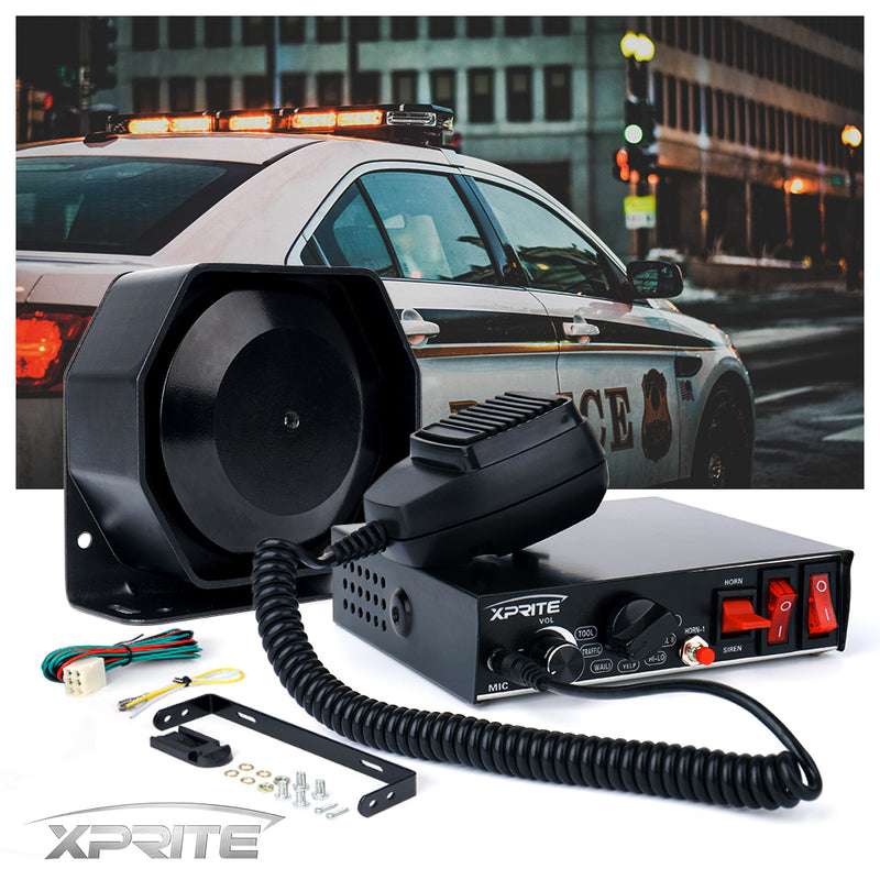 Xprite 200w G4 Siren PA System with Handheld Microphone and Light Control Switches