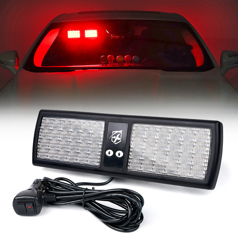 Xprite Decoy Series Windshield Visor 48 LED Strobe Lights