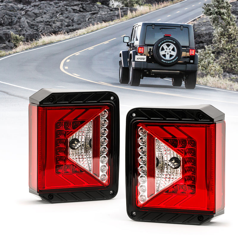 Xprite Rival Series LED Taillights For 2007 - 2018 Jeep Wrangler JK JKU