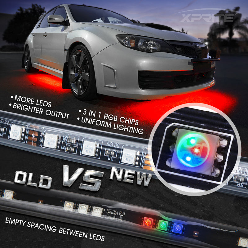 Xprite Throwback Series 8 Color LED RGB Underbody Kit with IR Remote Control