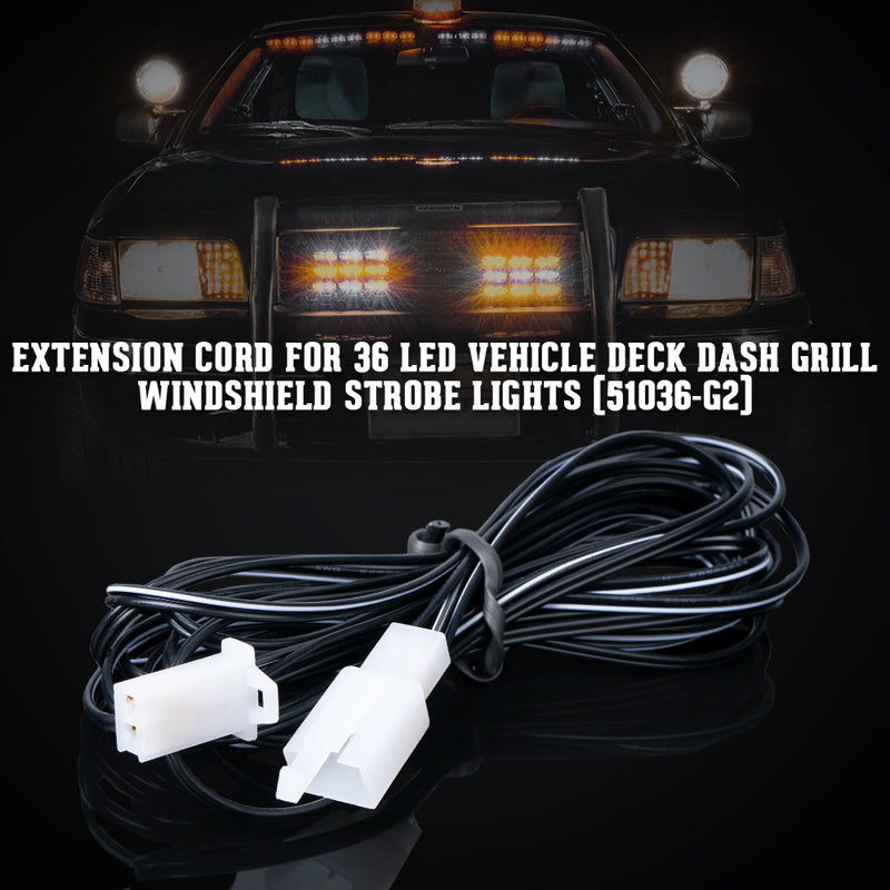 Xprite 10ft Extension Cable for Patrol Series Grille Strobe Light Set