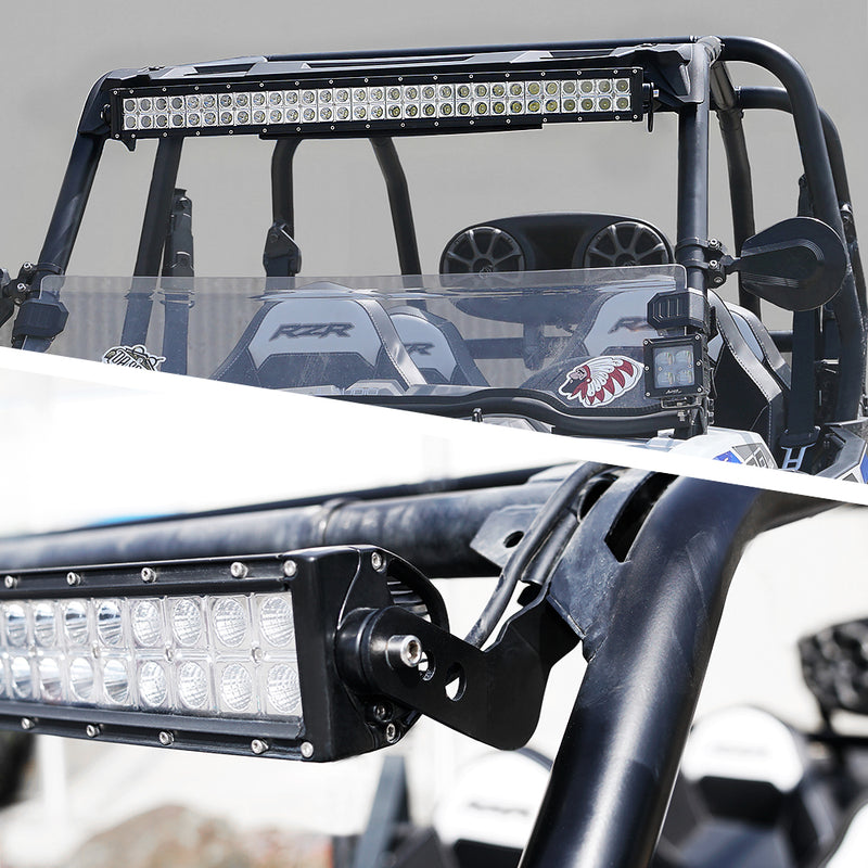 Xprite Roll Cage Light Bar Bracket for 2013 - 2017 Polaris RZR XP1000 & 2015 RZR 900 Models with Stock Roll Cage only