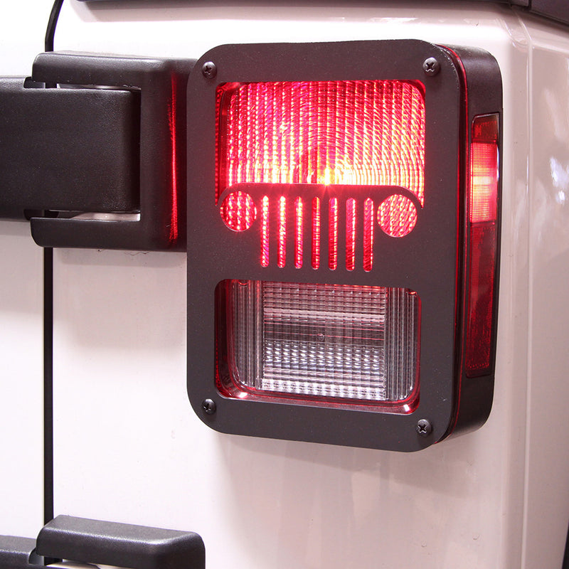 Xprite Black Rear Taillight Covers for 2007 - 2018 Jeep Wrangler JK