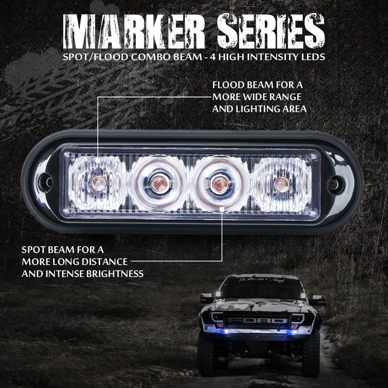 Xprite Marker Series 4W Surface Mount Grille Strobe Light Head