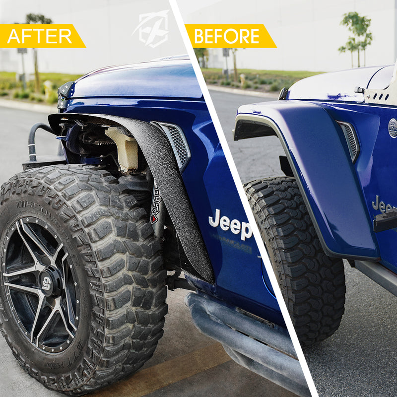 Xprite Grind Series Steel Fender Flare Kit for 2018+ Jeep Wrangler JL
