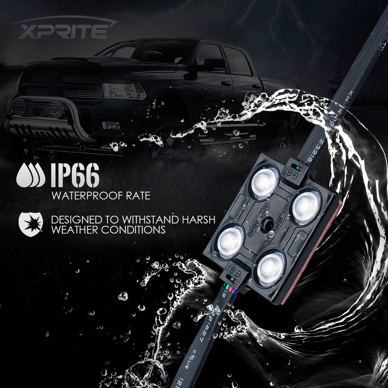 Xprite 8 RGB LED Light Pod Set w/ Remote Control