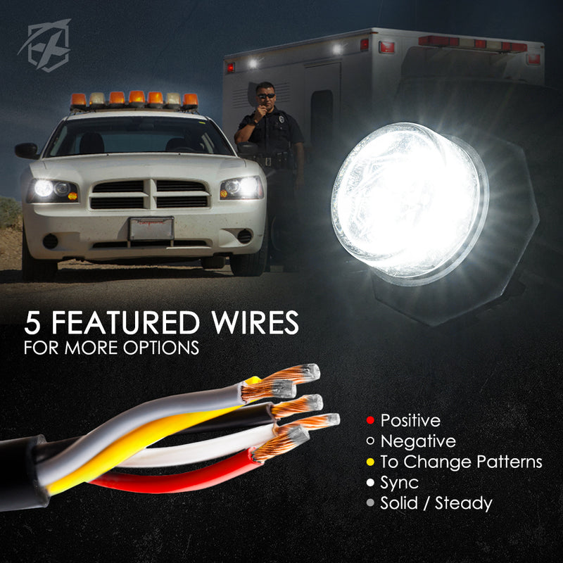 Xprite Conceal Series LED Hide-A-Way Emergency Strobe Light