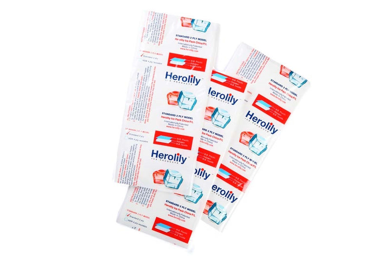 Herolily 20 Sheets Extreme Freeze Reusable 2 Ply Ice & Heat Pack - 5IN x 3 Blocks