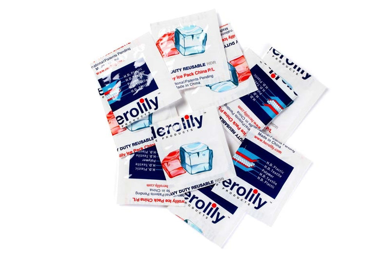 Herolily 100 Sheets Advanced Ice Heavy Duty Reusable (HDR) 4 Ply Reusable Ice & Heat Pack - 2IN X 1 Block