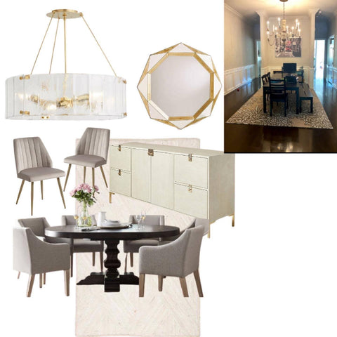 Modern Traditional Dining Room Oak and Honey Interiors