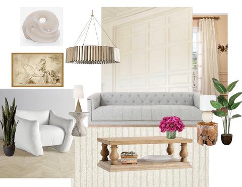 French Modern Traditional Design Board Mood Board Oak and Honey Interiors
