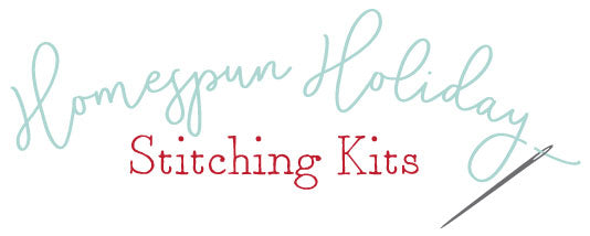 Introducing Homespun Holiday Stitching Kits