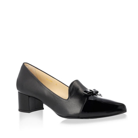Block Heel Slip On Black Dress Shoes