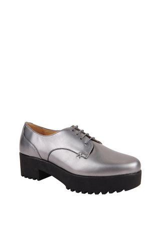 EVA Bottom Pewter Leather Oxfords Shoes