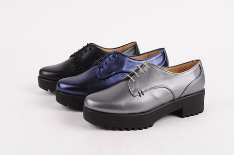 Lace Up Oxford Leather Shoes for Women with Cushion