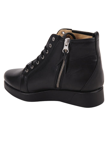 Wedge Dress Sneakers Zipper High Ankle Shoes