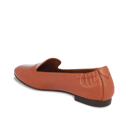 Comfortable Shoes in Tan Leather Moccassins for Women