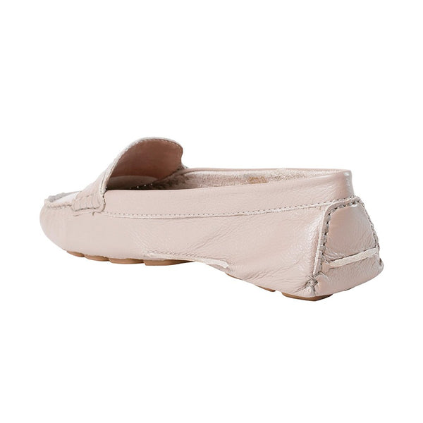 Moccasins - Soft Taupe Tumbled Leather - UKIES