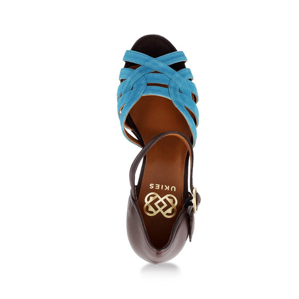 Tutu- Teal Suede and Brown Nappa