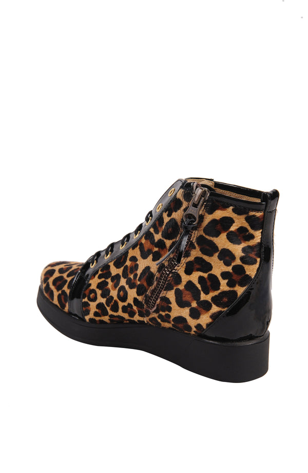 Alberta - Leopard Print Calf Hair - UKIES