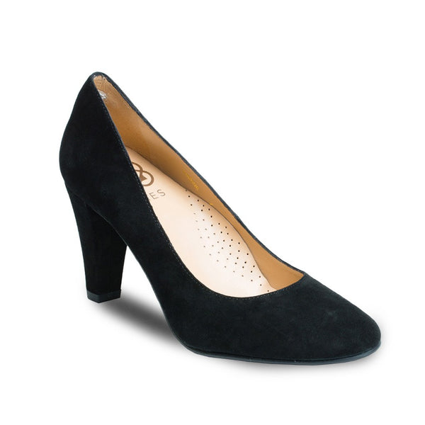 Pumps - Marine - Black Suede