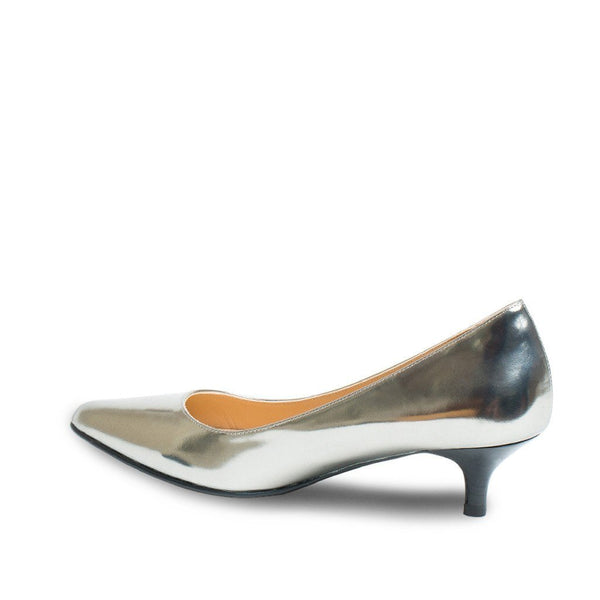 Pumps - Phyllis - Pewter Mirror Nappa
