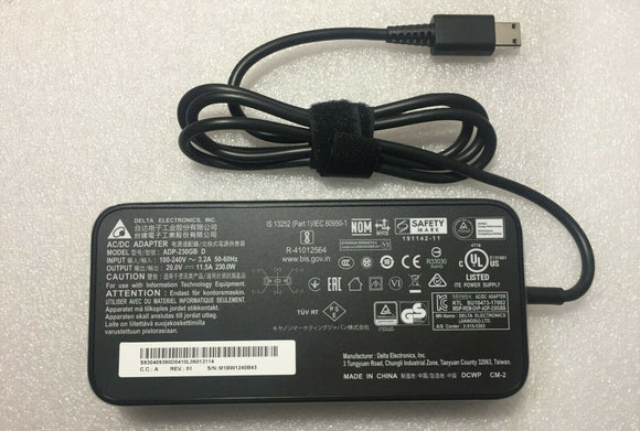 New Original MSI GE66 Raider 10UH-086FR ADP-230GB D Delta 230W 20V AC/DC Adapter