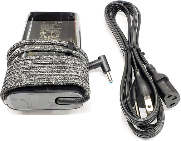 Original For HP 19.5V 10.3A 200W AC Adapter for HP ZBook 17 G5 Series, HP Laptop 15-dc0000 Series, Compatible with P/N: TPN-DA10, L00818-850, L00895-003, ADP-200HB B, W2F75AA.