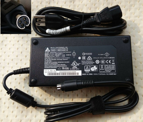 @Original OEM Delta 230W 4P AC Adapter for MSI GT80 2QE-089TH ADP-230EB T Laptop