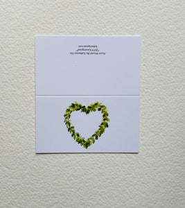 """Heart Wreath"" Enclosure Cards"