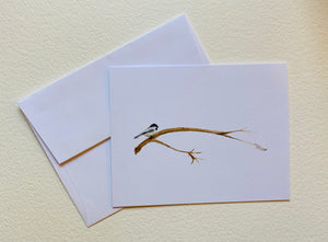 Chickadee on a Limb Notecards