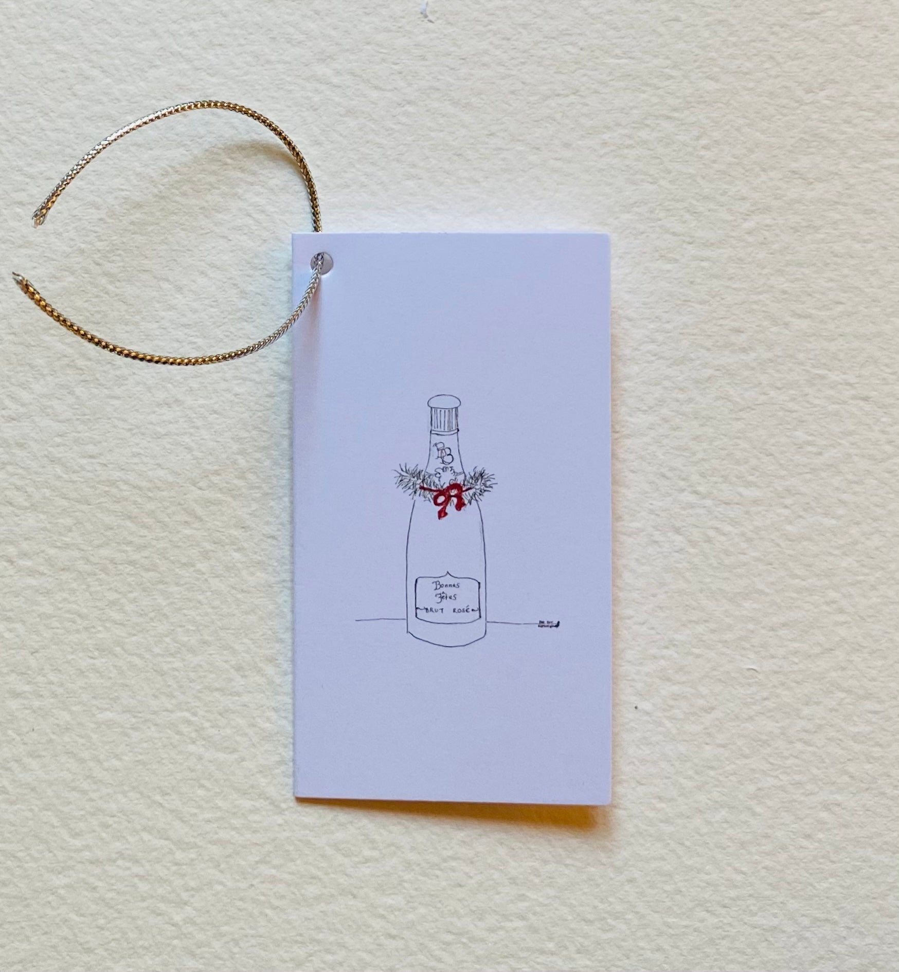 Holiday Toast Wine Tags