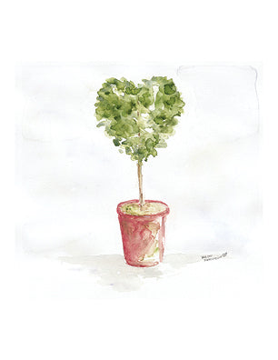 """Heart Topiary"" Notecards (Custom Message Available)"