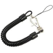 Load image into Gallery viewer, Lobster Clasp Hook Spring Stretchy Coil Keyring Keychain Strap Rope Cord Swivel Lobster Clasp Clips Key Hooks Black Wholesales