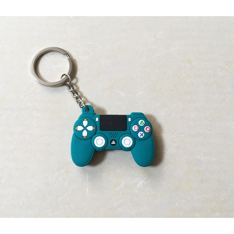 Switch Game Machine Keychain Fashion Stereo Cartoon PS4 Game Console Keychains Childhood Exquisite Bag Car Hanging Fun Keyring