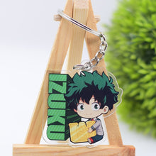 Load image into Gallery viewer, My Hero Academy Keychain Double Sided Acrylic Shoto/Izuku Key Chain Pendant Anime Accessories Cartoon Key Ring