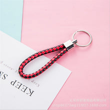 Load image into Gallery viewer, Fashion handmade leather rope keychain Car key ring key chain bag pendant accessories