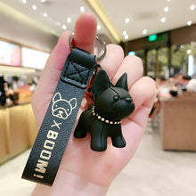 Load image into Gallery viewer, 2020 Fashion French Bulldog Keychain Puppy Car Keyring PU Leather Punk Bulldog Key Chains Cute Dog PVC Pendant Bag Charm Trinket