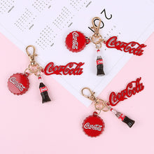 Load image into Gallery viewer, Cute Coke Bottle Keychains Cool And Refreshing Cola Cover Car Key Chain ManBag Pendant Keyring Student Lovers Holiday Gifts