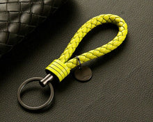 Load image into Gallery viewer, Vintage Retro Leather Rope Weave Braided Strap Keychain Keyring Car Key Chain Ring Key Fob Sling Jewelry Gift