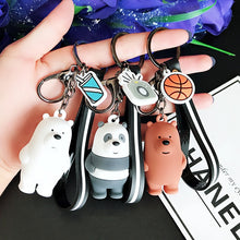 Load image into Gallery viewer, Fashion Cartoon We Bare Bearskey chain Cute Three Animal Bears Doll Keychains Women Car Bag Pendant Trinkets Keyring