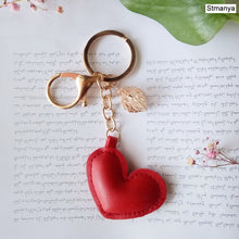 Load image into Gallery viewer, Women New Macaron Cake keychain PU love alloy leaf Key Chain Charm Bag pendant Key Ring Best Party Gift Jewelry K3006