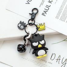 Load image into Gallery viewer, Cute Anime Kuromi Melody Hello Kitty Keychain Kawaii Cartoon Big Eared Dog Frog Pudding Dog Penguin Women Bag Pendant Key Chain